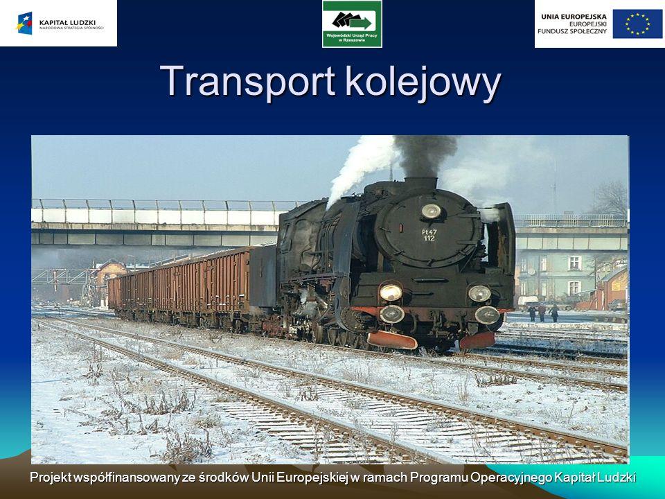 Transport kolejowy Projekt współfinansowany ze środków Unii Europejskiej w ramach Programu Operacyjnego Kapitał Ludzki.