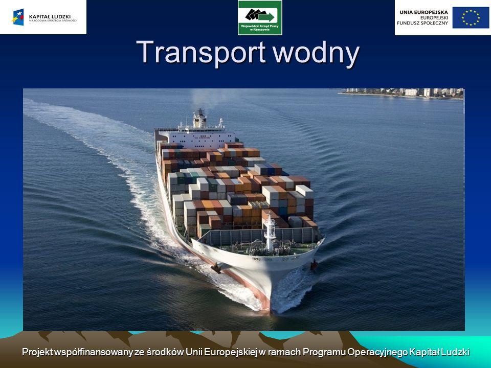 Transport wodny Projekt współfinansowany ze środków Unii Europejskiej w ramach Programu Operacyjnego Kapitał Ludzki.