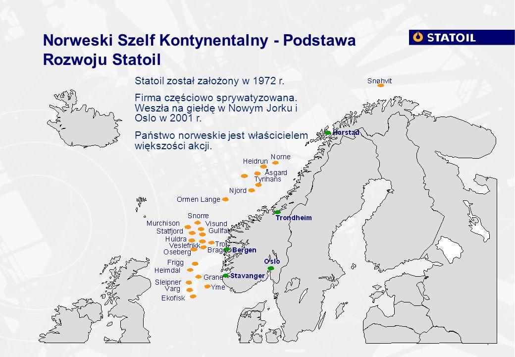 Norweski Szelf Kontynentalny - Podstawa Rozwoju Statoil