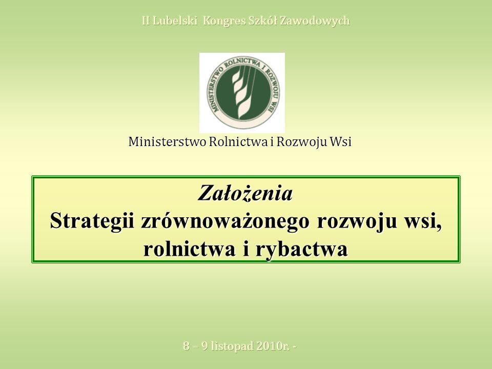 Założenia Strategii zrównoważonego rozwoju wsi, rolnictwa i rybactwa