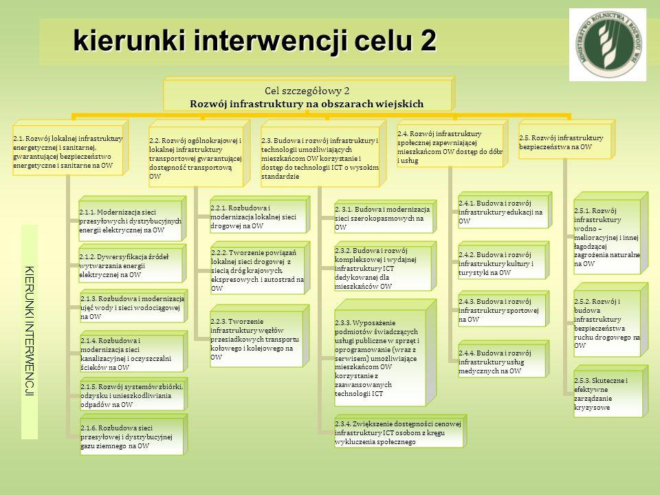 kierunki interwencji celu 2