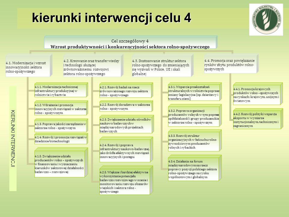 kierunki interwencji celu 4