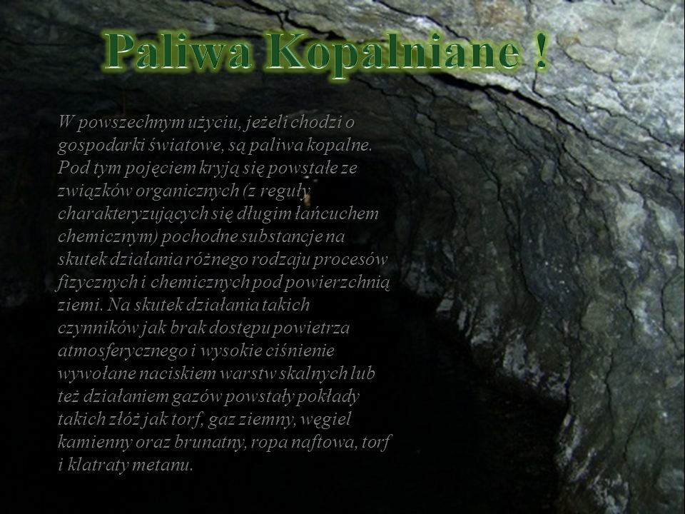 Paliwa Kopalniane !