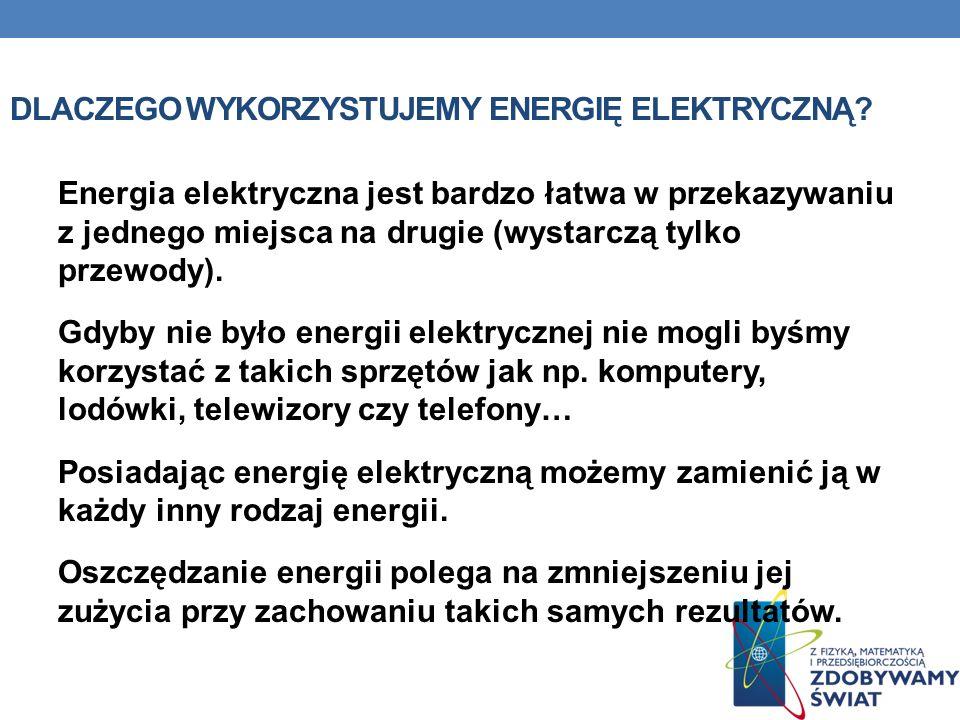Dlaczego wykorzystujemy energię elektryczną
