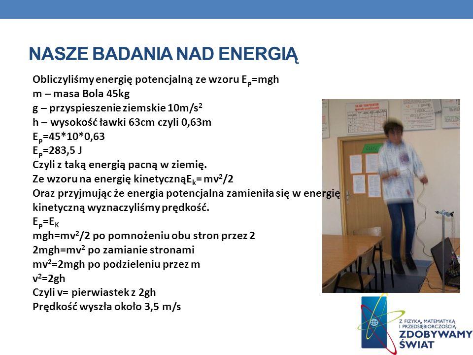Nasze badania nad energią
