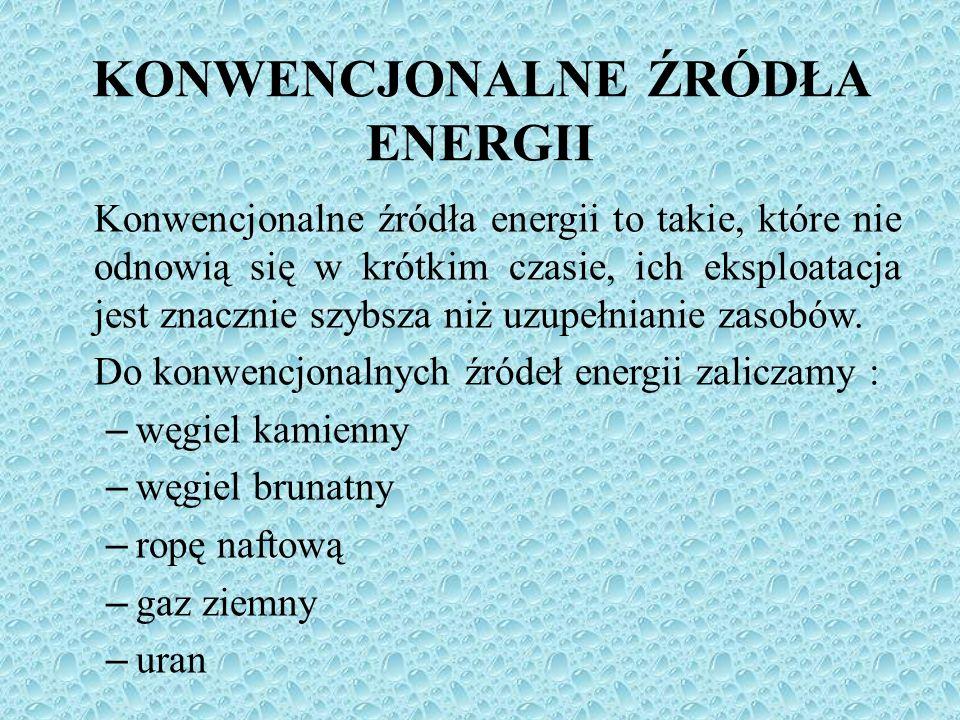 KONWENCJONALNE ŹRÓDŁA ENERGII
