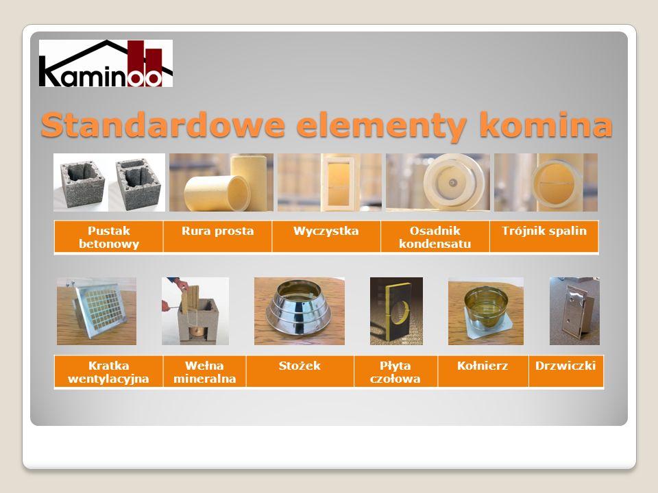 Standardowe elementy komina