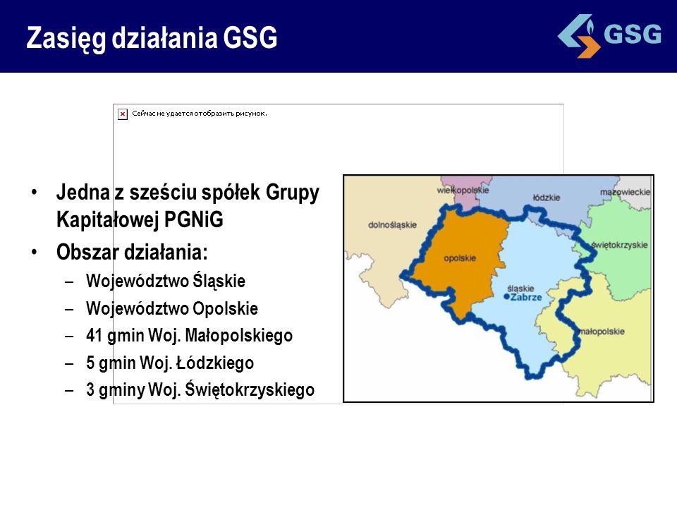 Zasięg działania GSG Jedna z sześciu spółek Grupy Kapitałowej PGNiG