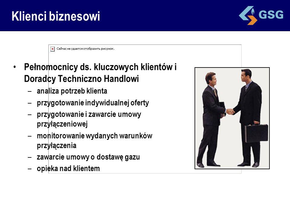 Klienci biznesowi Pełnomocnicy ds. kluczowych klientów i Doradcy Techniczno Handlowi. analiza potrzeb klienta.