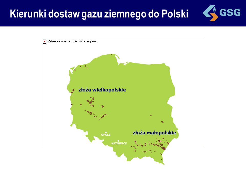 Kierunki dostaw gazu ziemnego do Polski