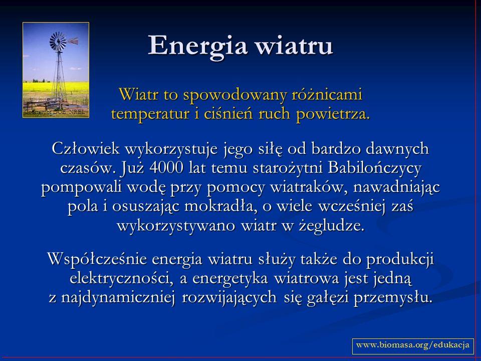 Wiatr to spowodowany różnicami temperatur i ciśnień ruch powietrza.