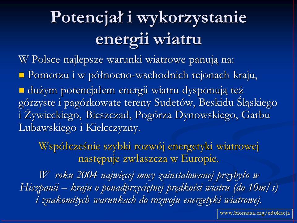 Potencjał i wykorzystanie energii wiatru