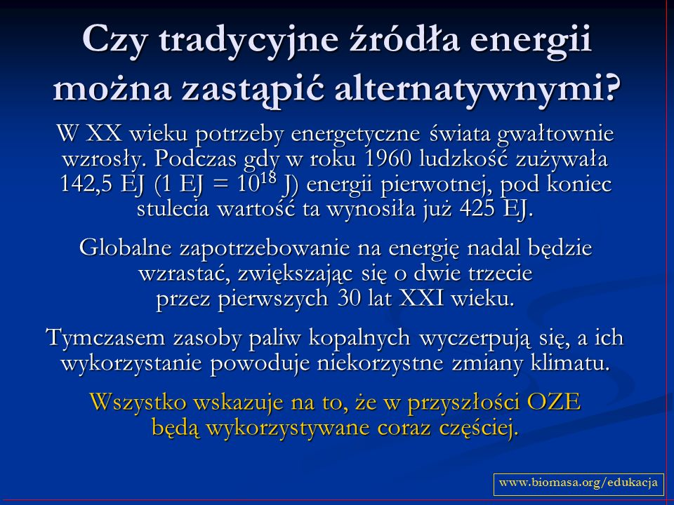 Czy tradycyjne źródła energii można zastąpić alternatywnymi