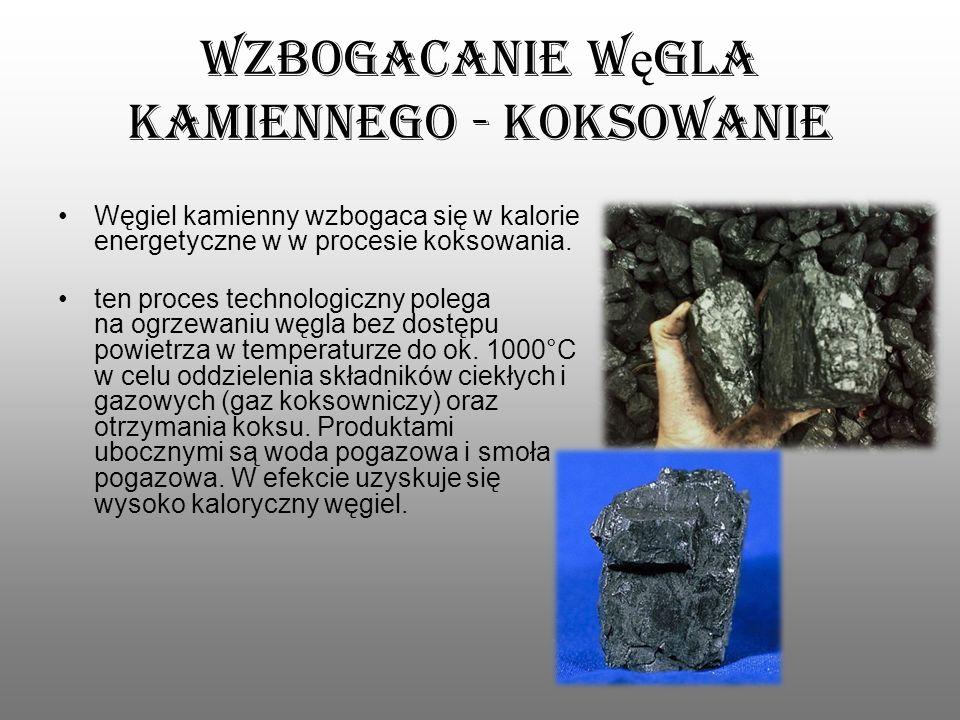 Wzbogacanie węgla kamiennego - koksowanie