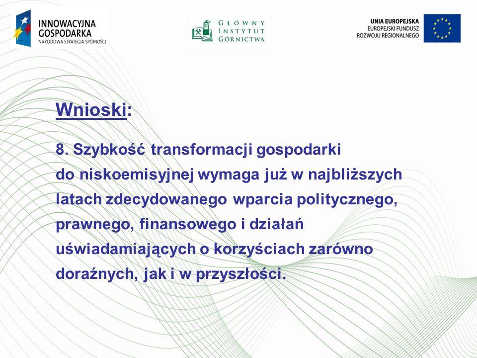 Wnioski: 8. Szybkość transformacji gospodarki