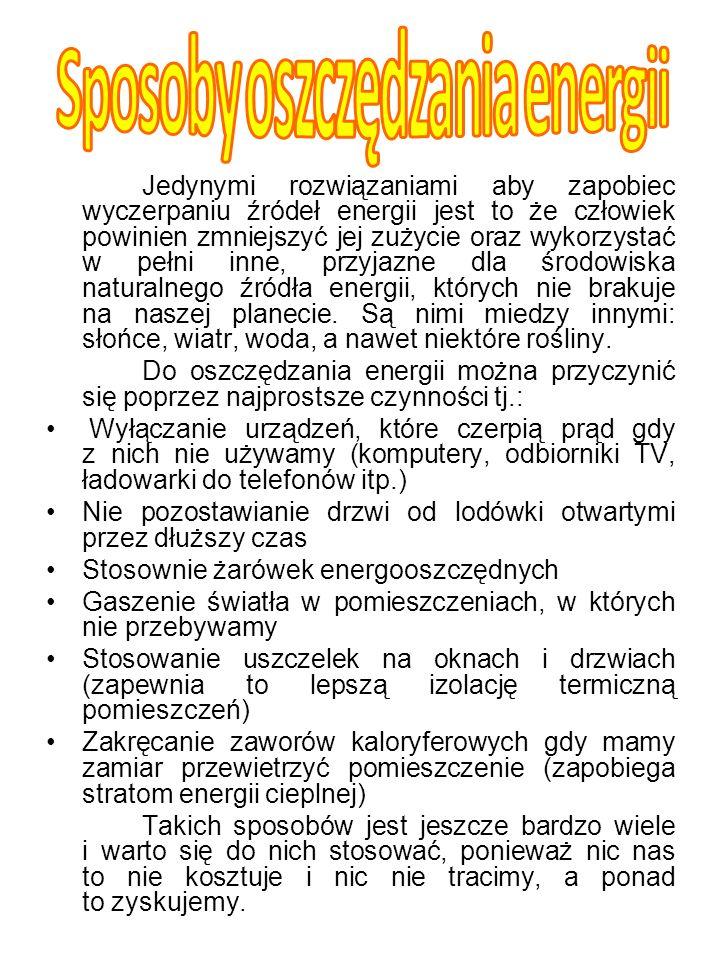 Sposoby oszczędzania energii