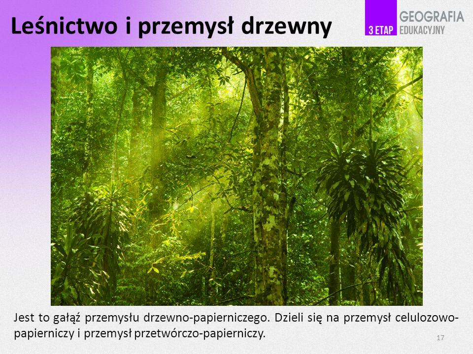 Leśnictwo i przemysł drzewny
