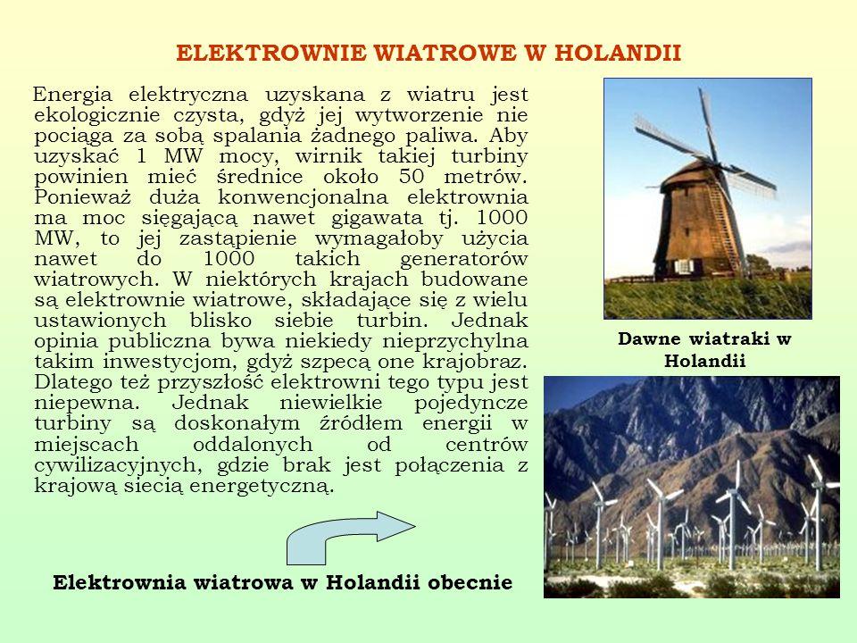 ELEKTROWNIE WIATROWE W HOLANDII