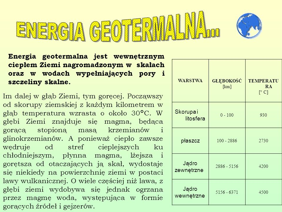 ENERGIA GEOTERMALNA...