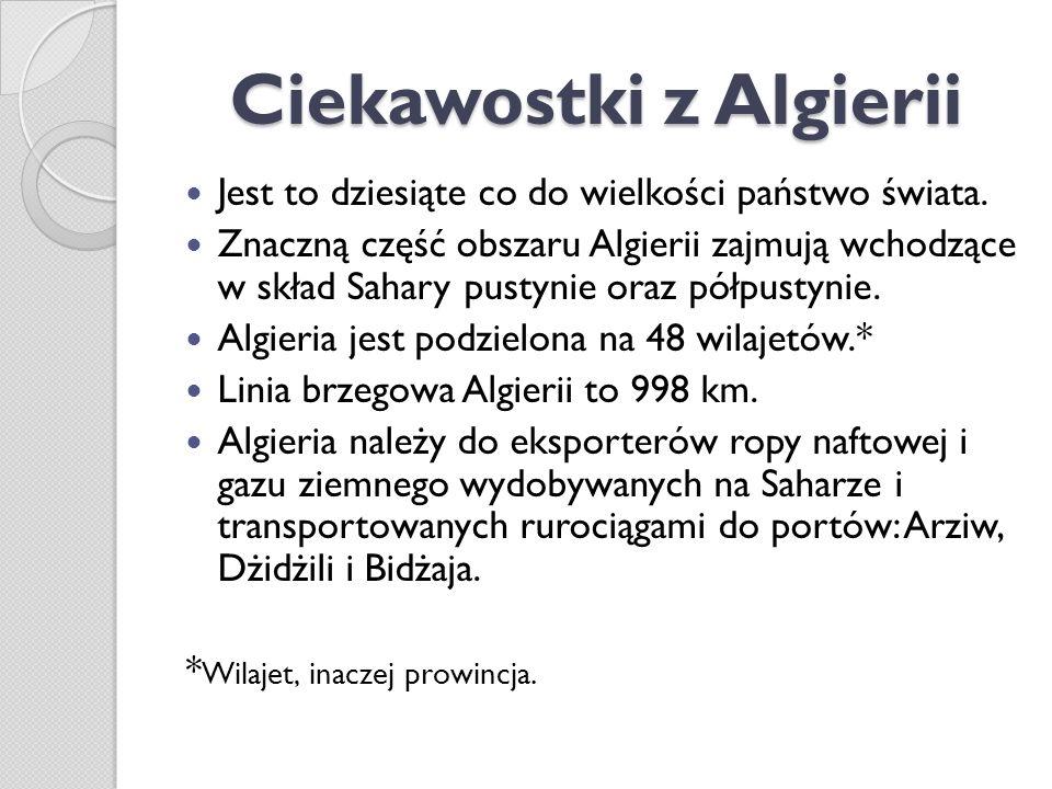 Ciekawostki z Algierii