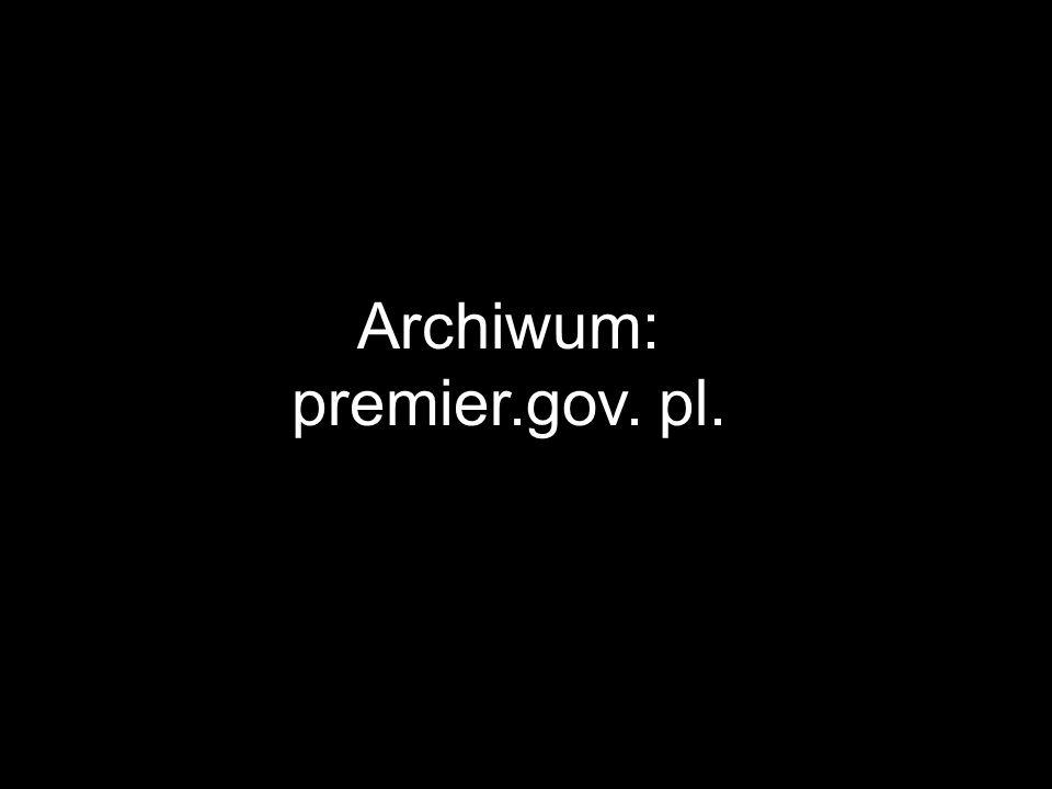 Archiwum: premier.gov. pl.