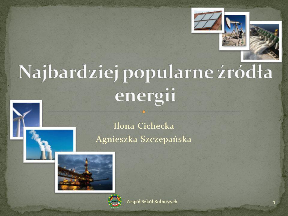 Najbardziej popularne źródła energii