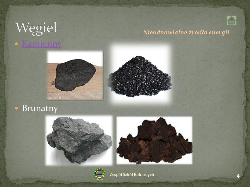 Węgiel Kamienny Brunatny Nieodnawialne źródła energii