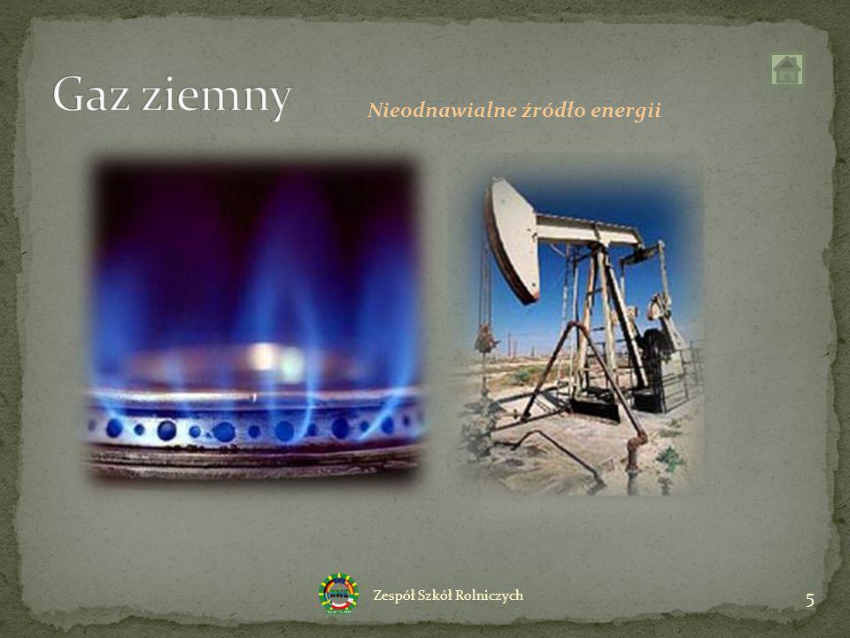 Gaz ziemny Nieodnawialne źródło energii
