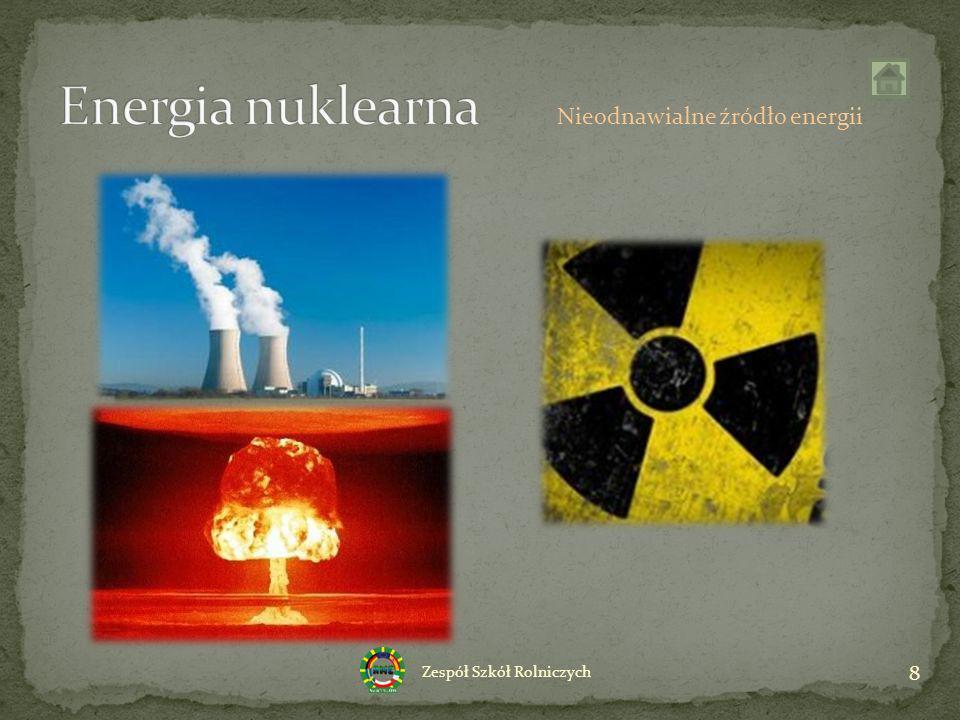 Energia nuklearna Nieodnawialne źródło energii