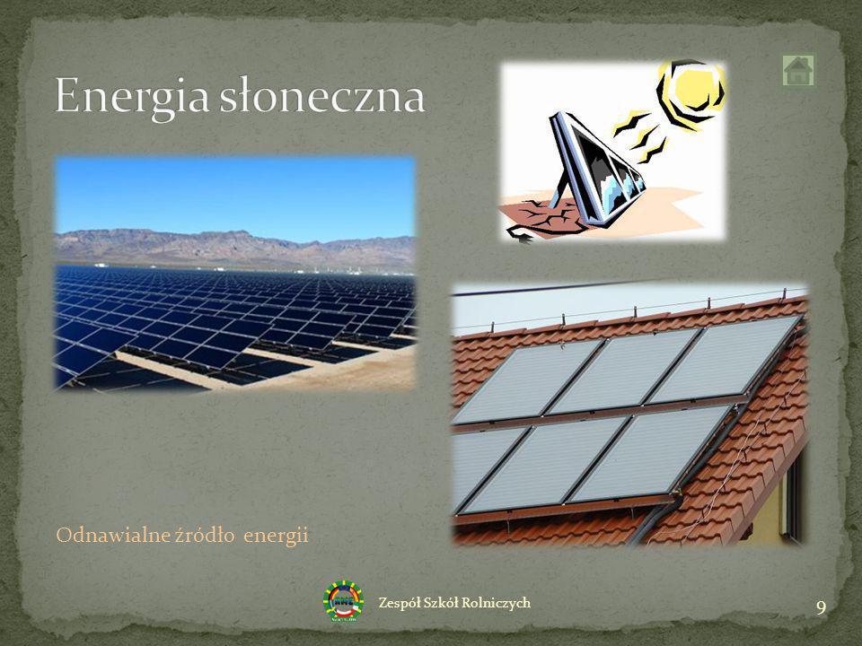 Energia słoneczna Odnawialne źródło energii