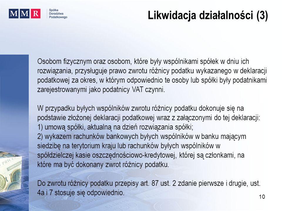 Likwidacja działalności (3)