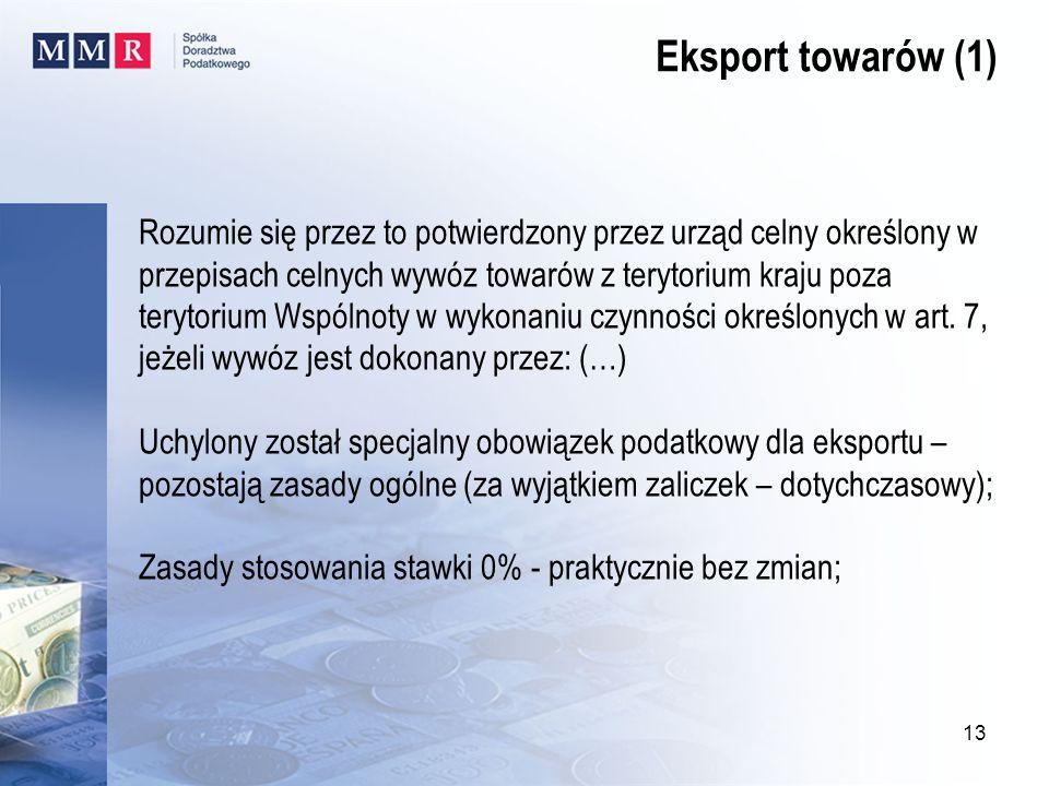 Eksport towarów (1)