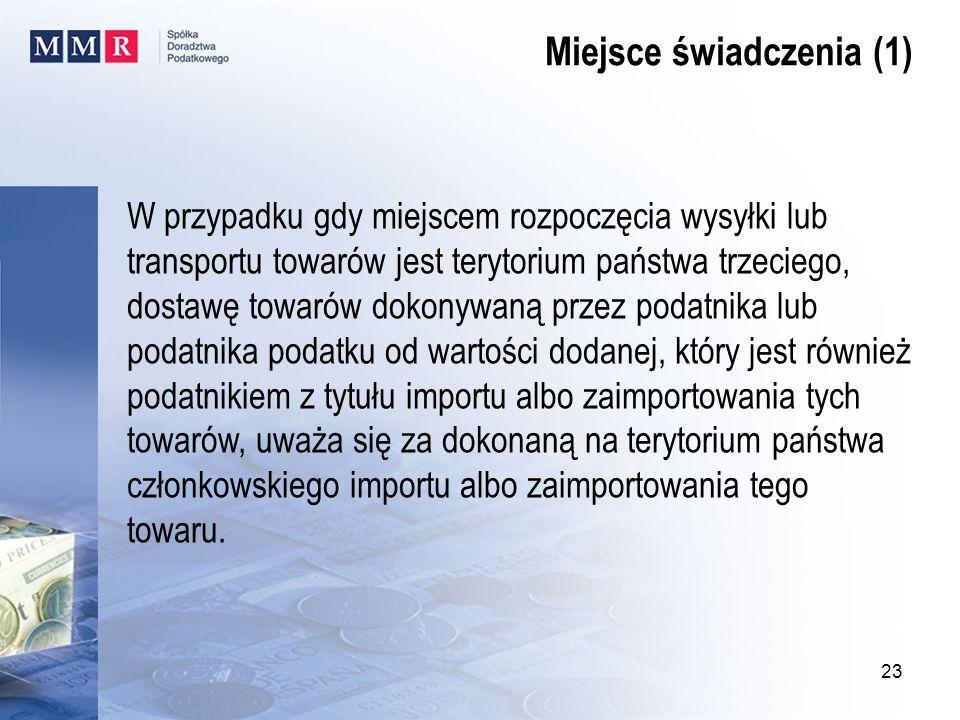 Miejsce świadczenia (1)