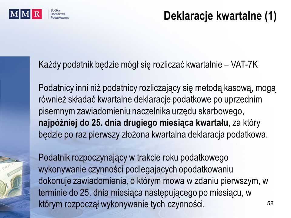 Deklaracje kwartalne (1)