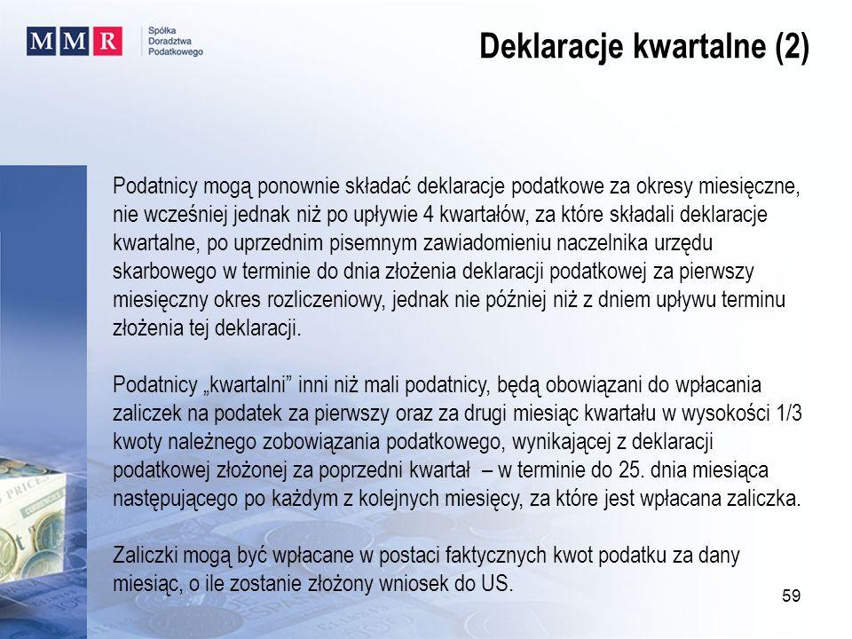 Deklaracje kwartalne (2)