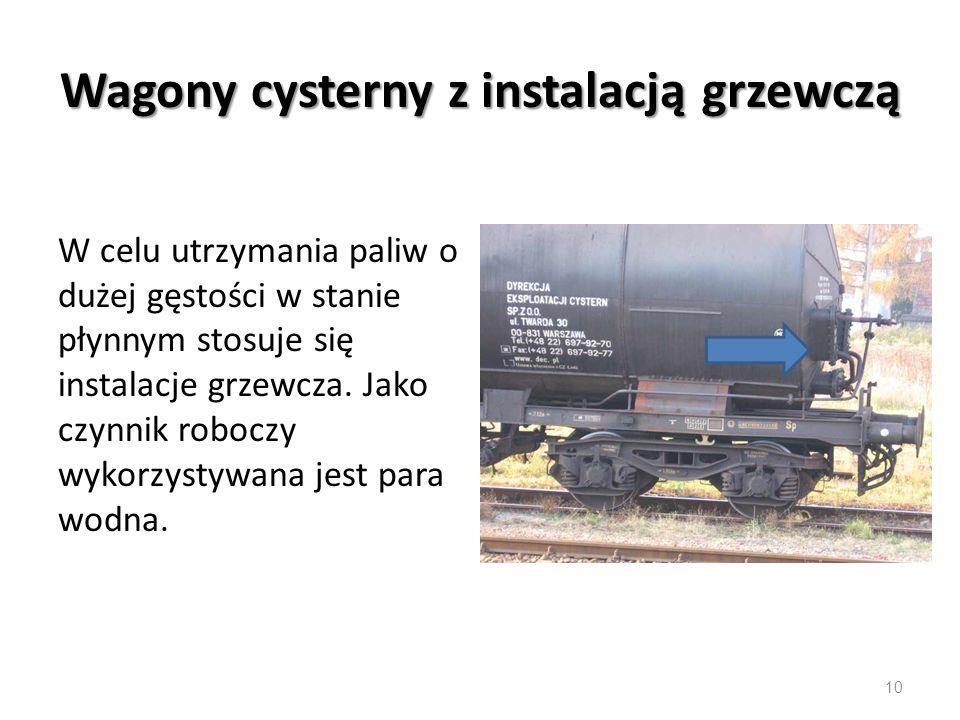Wagony cysterny z instalacją grzewczą