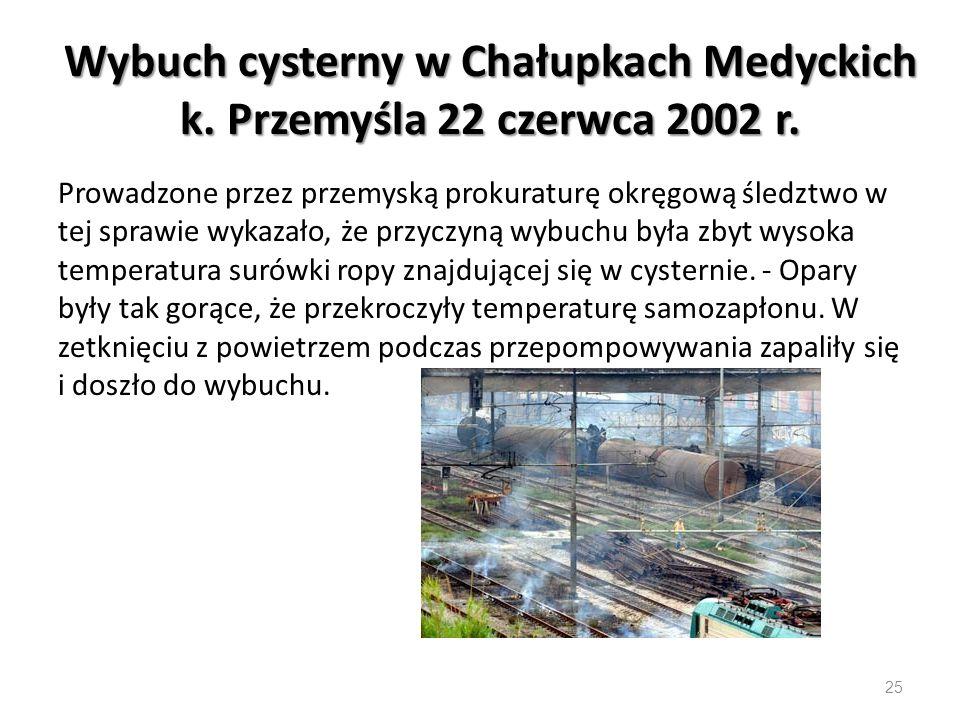 Wybuch cysterny w Chałupkach Medyckich k. Przemyśla 22 czerwca 2002 r.
