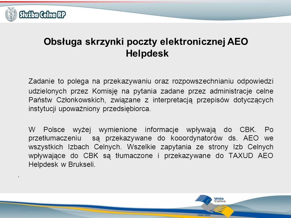 Obsługa skrzynki poczty elektronicznej AEO Helpdesk