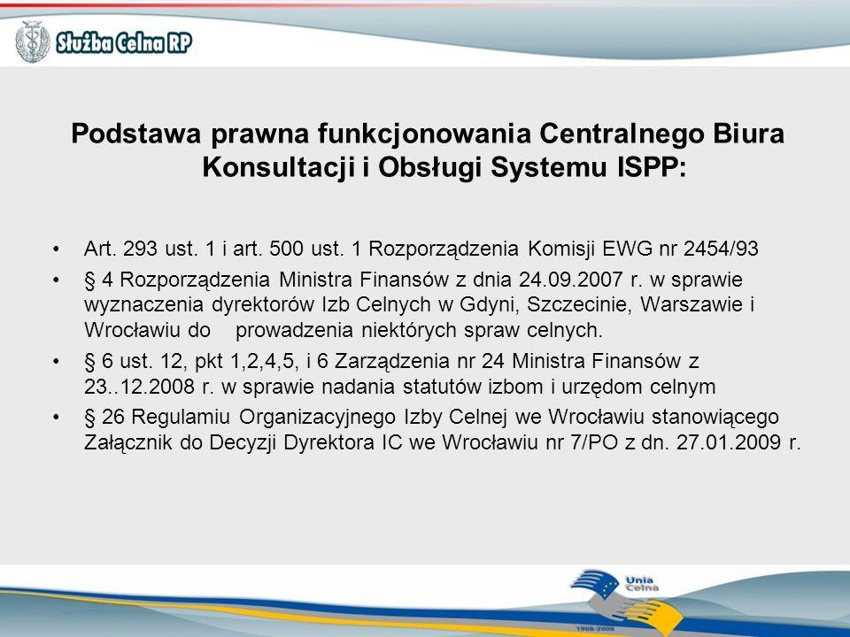 Podstawa prawna funkcjonowania Centralnego Biura Konsultacji i Obsługi Systemu ISPP: