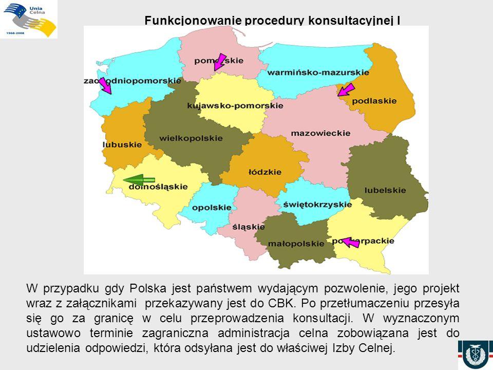 Funkcjonowanie procedury konsultacyjnej I