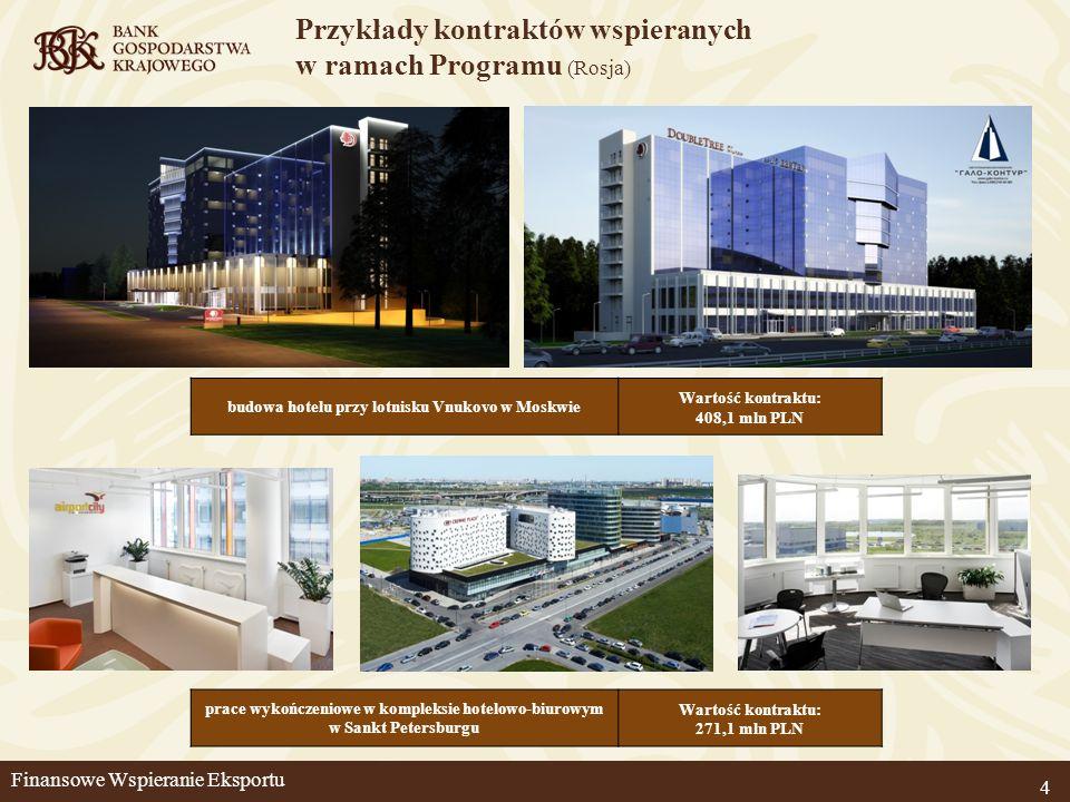 Przykłady kontraktów wspieranych w ramach Programu (Rosja)