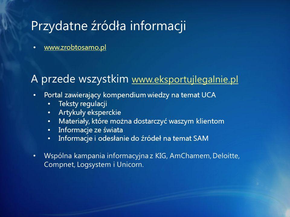 Przydatne źródła informacji