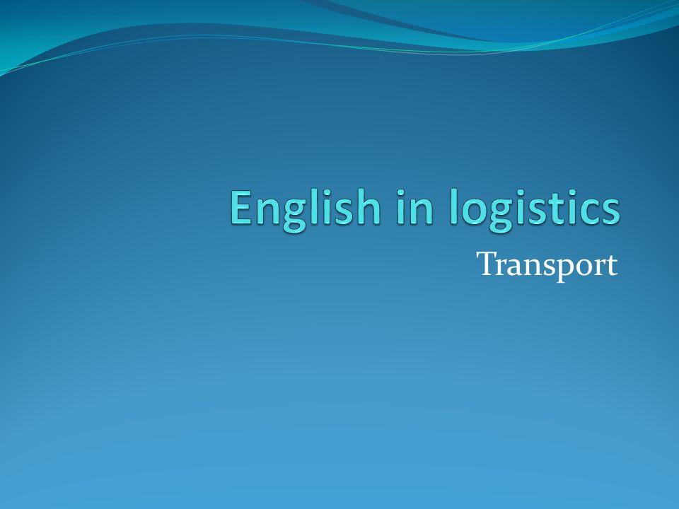 English in logistics Transport