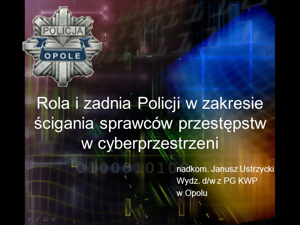 nadkom. Janusz Ustrzycki Wydz. d/w z PG KWP w Opolu