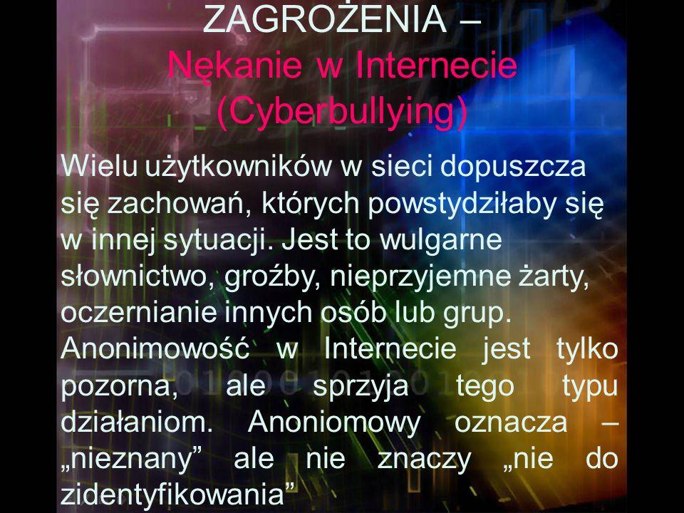 ZAGROŻENIA – Nękanie w Internecie (Cyberbullying)