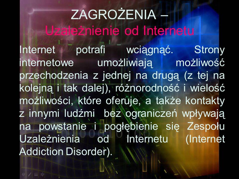 ZAGROŻENIA – Uzależnienie od Internetu