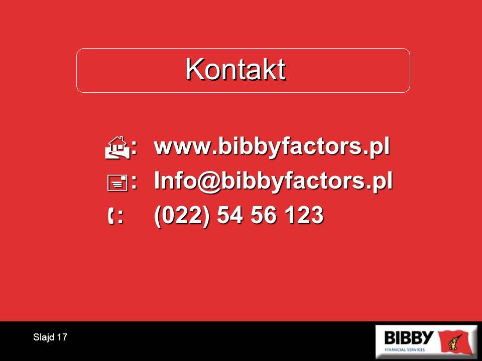 Kontakt : www.bibbyfactors.pl : Info@bibbyfactors.pl