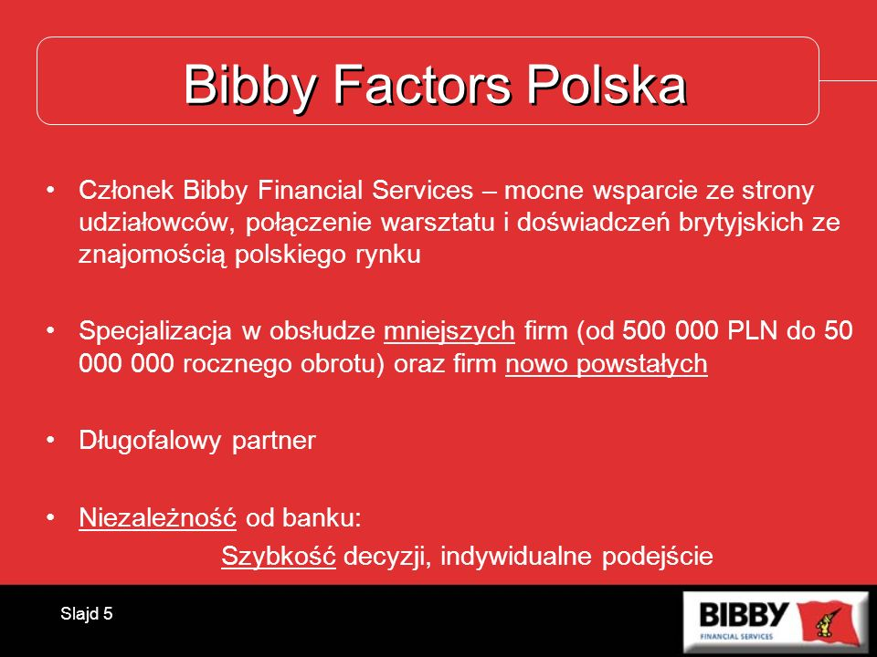 Bibby Factors Polska
