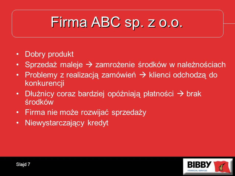 Firma ABC sp. z o.o. Dobry produkt