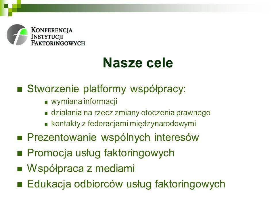 Nasze cele Stworzenie platformy współpracy: